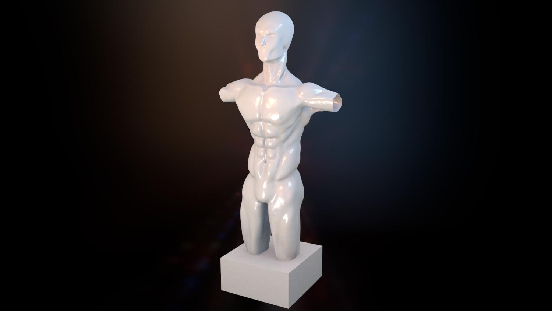 Male torso Kostenlose 3D-Modell in Anatomie 3DExport
