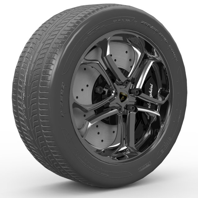 Lamborghini wheel ZR19 3D Model