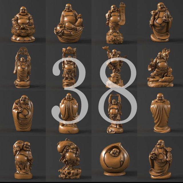 38 Maitreya Buddha 3D Model 3D Model
