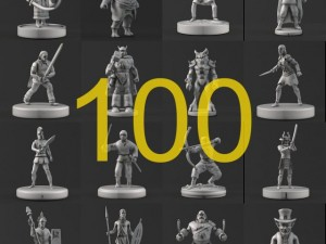 100 Myth and Ancient People Sculpture collection 3