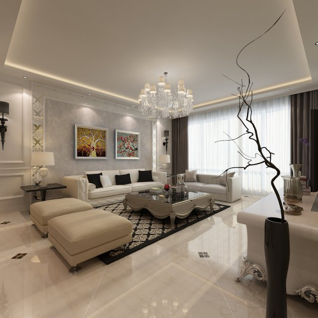 Model Living Room Delectable Living Room 1 3D Model In Living Room 3Dexport Inspiration