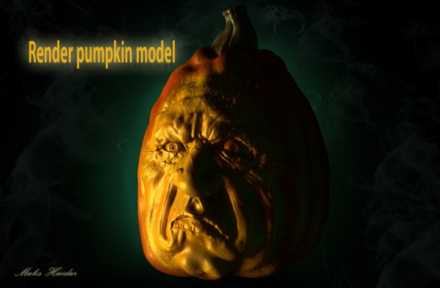 Halloween pumpkin model 3D Model