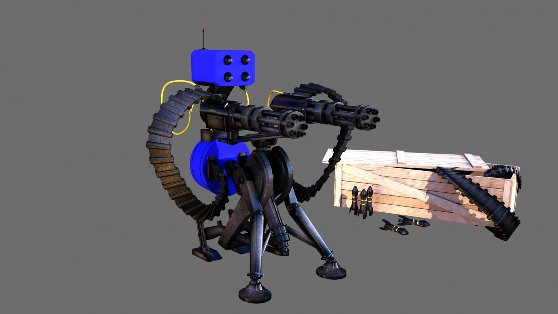 TF2 Sentry gun With munition 3D Model in Heavy Weapon 3DExport