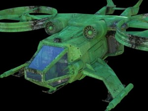 Battle scifi helicopter