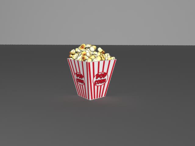 Popcorn 3D Model in Beverage 3DExport