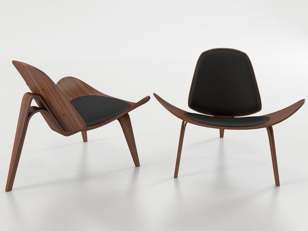 Wegner Shell Chair 3D Model