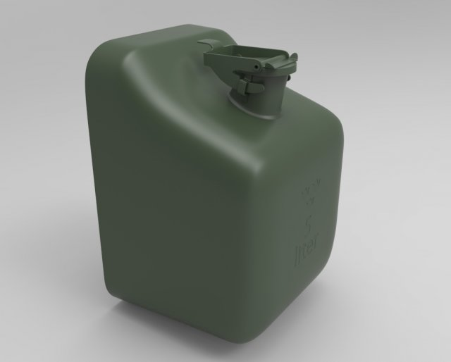 Swedish Army Jerry Can 3D Model