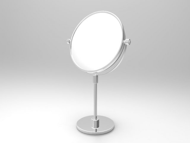 Common cosmetic mirror 3D Model