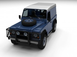 Land Rover Defender 90 Hard Top w interior