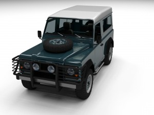 Land Rover Defender 90 Station Wagon w interior