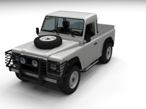 Land Rover Defender 90 Pick Up w interior
