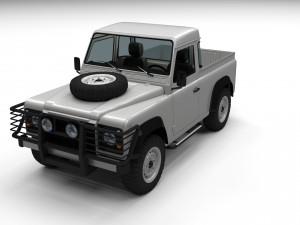 Land Rover Defender 90 Pick Up w interior