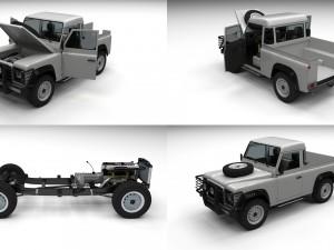 Full Land Rover Defender 90 Pick Up