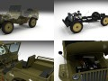 Full w chassis Jeep Willys MB Military
