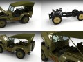 Full w chassis Jeep Willys MB Military Top