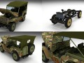Full w chassis Jeep Willys MB Military Camo