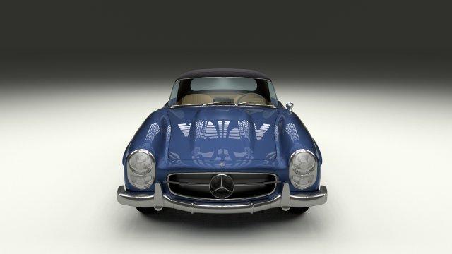 Mercedes 300SL Roaster Top 3D Model