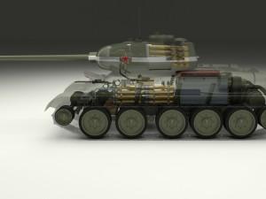T-34-85 Interior-Engine Bay Full