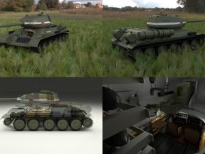 T-34-85 Interior-Engine Bay Full HDRI