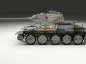 T-34-85 Interior-Engine Bay Full Winter Camo