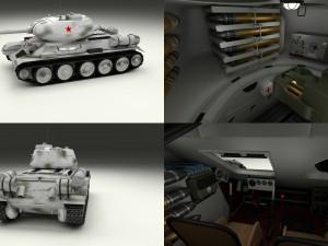 T-34-85 with Interior Winter Camo