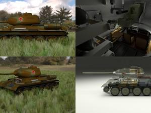 T-34-85 Interior-Engine Bay Full HDRI Camo