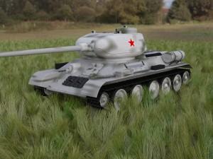 T-34-85 Tank HDRI winter camo