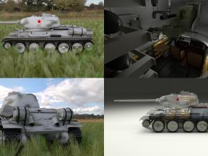 T-34-85 Interior-Engine Bay Full HDRI Winter Camo