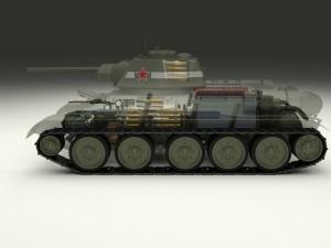 T-34-76 Interior-Engine Bay Full Camo