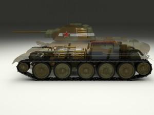 T-34-76 Interior-Engine Bay Camo Full