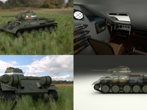 T-34-76 Interior-Engine Bay Full HDRI