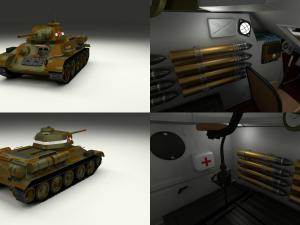 T34-76 with Interior Camo