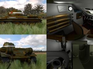T34-76 Tank with Interior HDRI Camo
