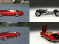 Fully Modelled Mercedes 300SL Roadster Red HDRI
