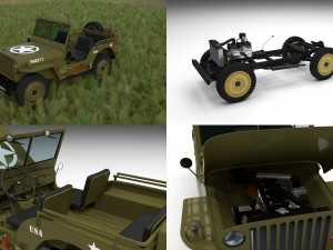 Full w chassis Jeep Willys MB Military HDRI