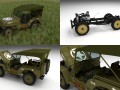 Full w chassis Jeep Willys MB Military Top HDRI