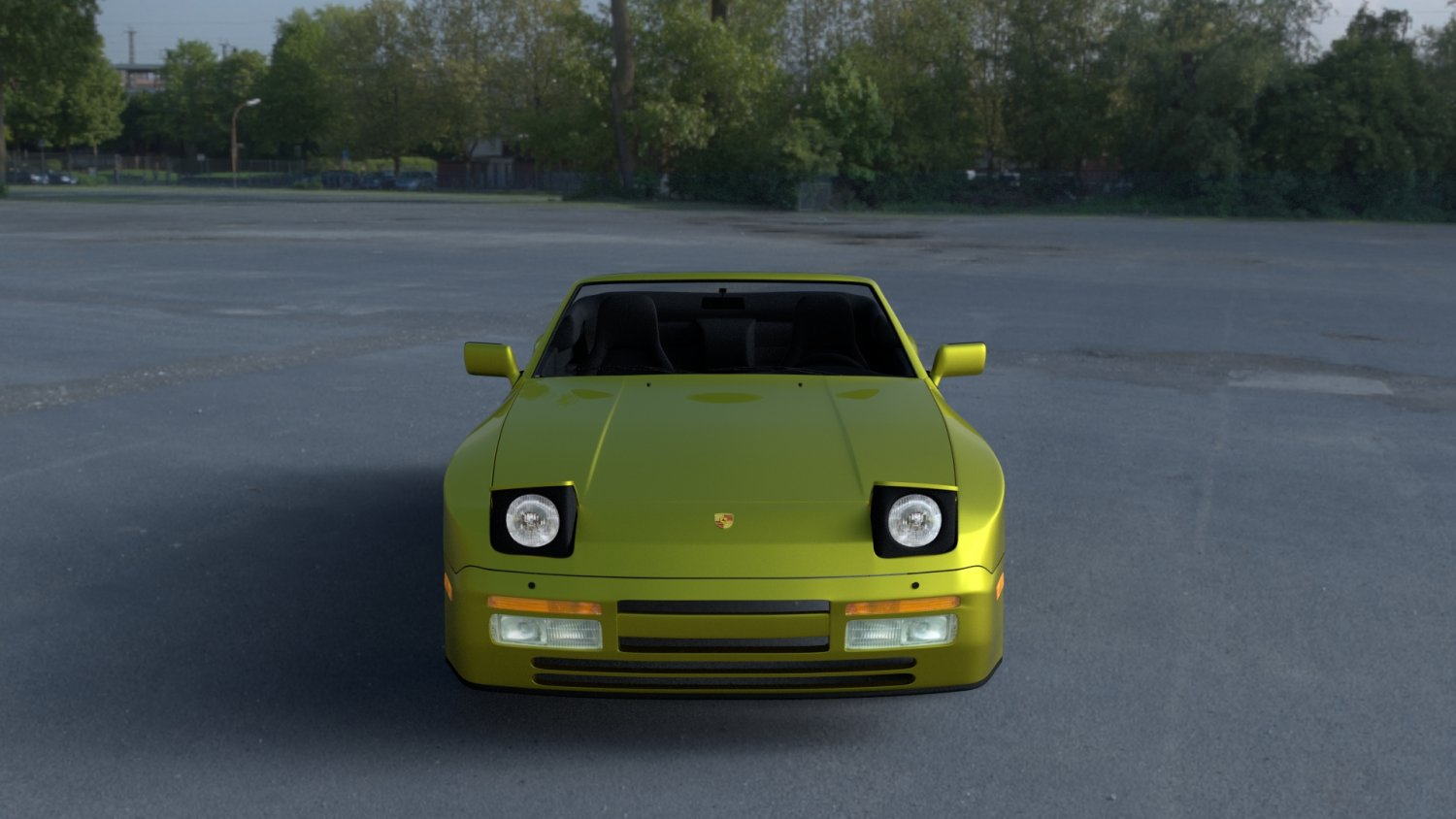 Porsche 944 Cabriolet W Interior Top Down Hdri 3d Model In Sport Cars 3dexport