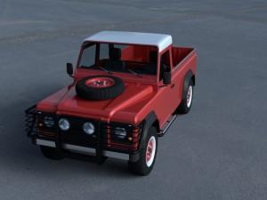 Land Rover Defender 110 Pick Up w interior HDRI