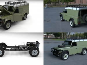 Land Rover Defender 110 Hard Top w chassis HDRI