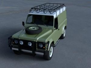Land Rover Defender 110 Hard Top w interior HDRI