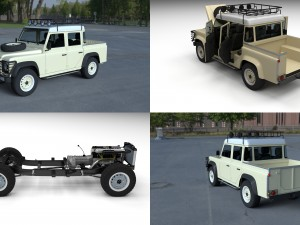Full Land Rover Defender 110 Double Cab Pick Up HD