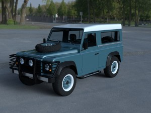 Land Rover Defender 90 Station Wagon w interior HD