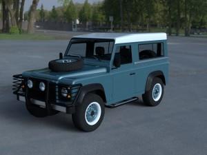 Land Rover Defender 90 Station Wagon w interior HD