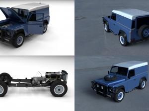 Full Land Rover Defender 90 Hard Top HDRI