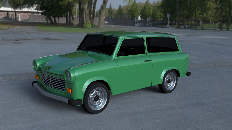 Trabant 601 Estate HDRI 3D Model in Old Cars 3DExport