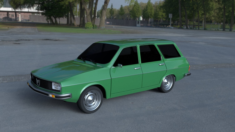 Renault 12 - Dacia 1300 Estate HDRI 3D Model in Old Cars 3DExport