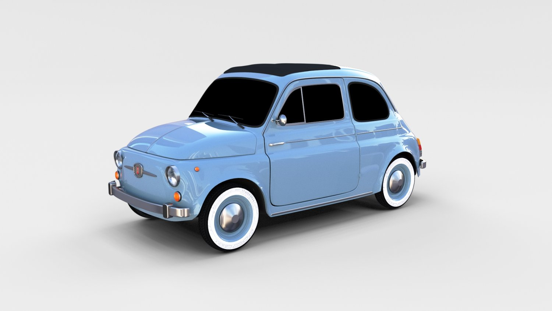 Fiat 500 Nuova 1957 Rev 3d Model In Classic Cars 3dexport