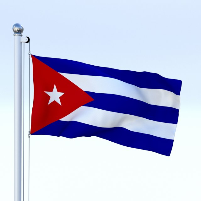 animated cuba flag 3d model in miscellaneous 3dexport