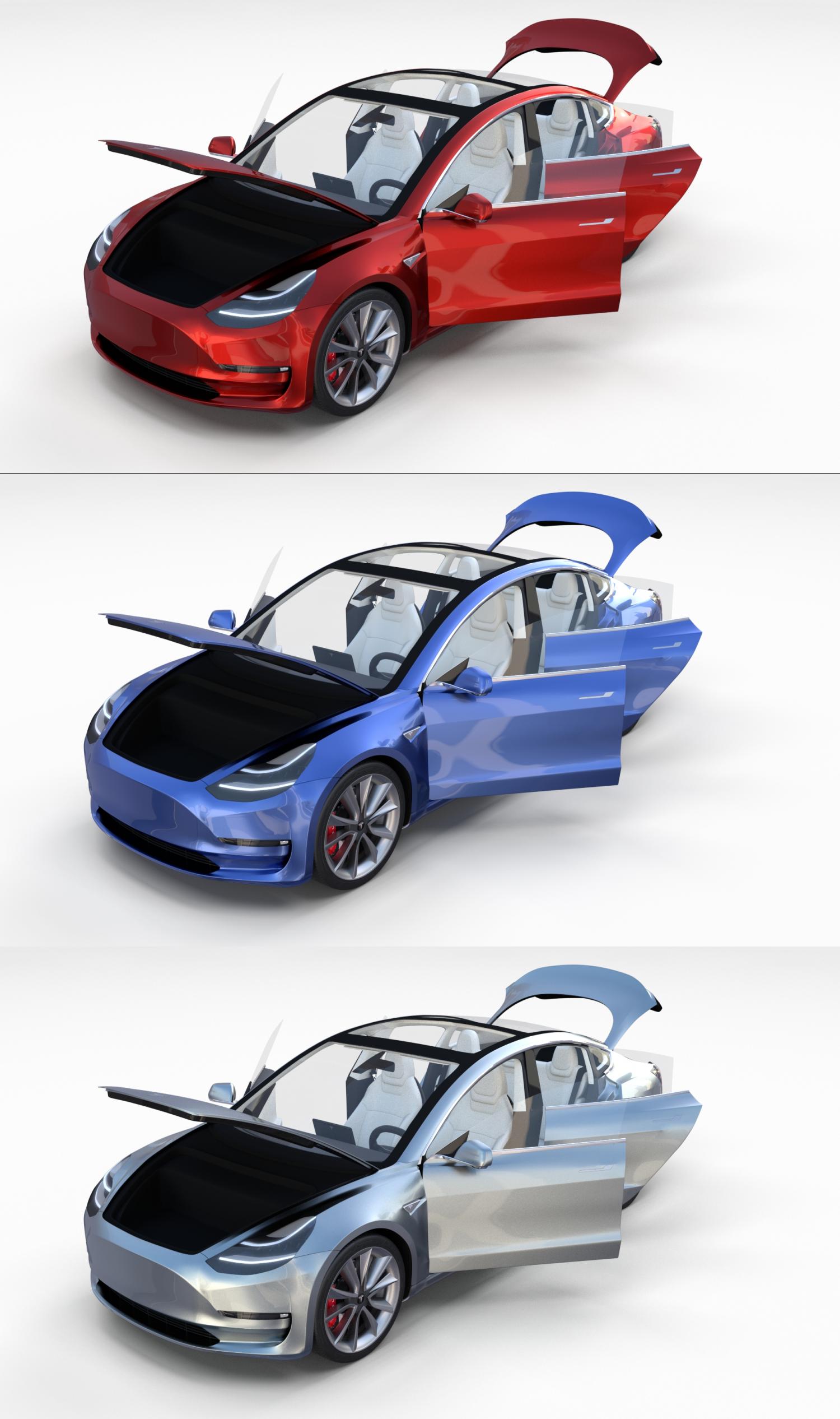 Tesla 3d Model Tesla Image