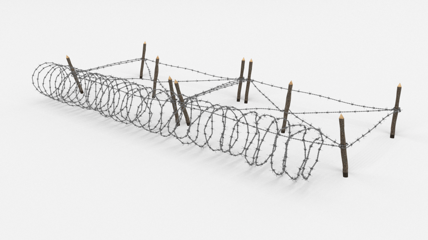 Barb Wire Obstacle 19 3D Model in Miscellaneous 3DExport